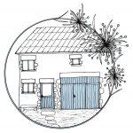 Logo réalisé par Jeanne Chanet Garcia, Le Pinceau et la plume